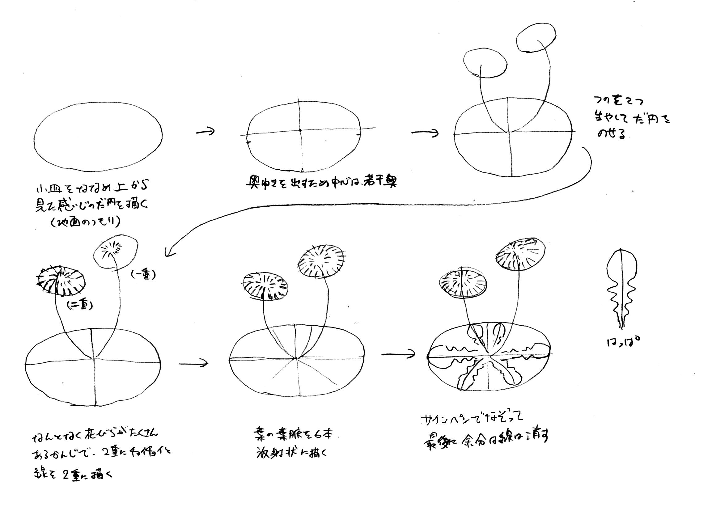 タンポポの描き方 | 三田巡朗のぐるっと廻って