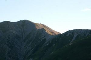 2012年9月12日撮影 雄山からの稜線