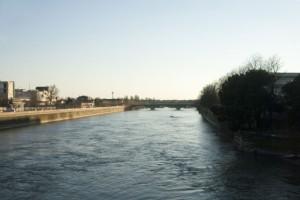 Adige/アディジェ川 Aleardi橋より