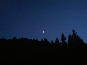 月明かりのみ